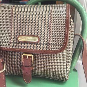 Polo Ralph Lauren glen plaid leather handbag